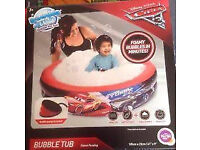 Disney Pixar Cars 3 Bubble Tub Bubbly Paddling Pool - Includes Pump
