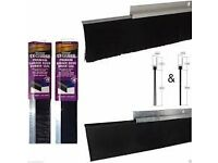Stormguard Aluminium/ Brush Door Seal, (L)2134mm 4 available