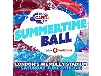 4 x Capital's Summertime Ball Tickets - Lower 121 Row 6 (Excellent Seats) - £100.00/each