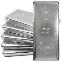 ROYAL CANADIAN MINT SILVER 100 OUNCE BARS SELL  $1.50 OVER SPOT