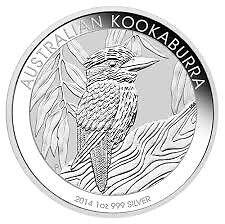Pièce en argent/silver bullion Kookaburra 2014 Ounce/once/oz