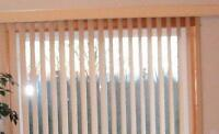 Cream colored vertical blinds for patio door $50 firm.