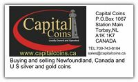 Buying Newfoundland Canada and United States silver and gold