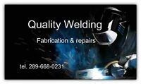 Quality welding fabrication and repair