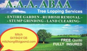 A.A.A. ABAA TREE LOPPING SERVICES Miranda Sutherland Area Preview
