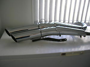 Stock Chrome Exhaust Pipes OEM Yamaha Raider 1900 Motorcycle