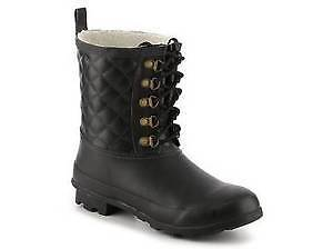 Chooka Outdoor Quilted Rain Boot - Black SIZE 8 NEW