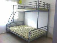 IKEA bunk bed-double and single