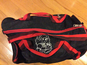 ELPROSAC SPORTS/GYM BAG WITH RED LINING - GOOD STATE