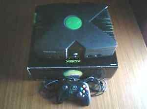 Original Xbox with Box, Cables, & Games! Great Gift Idea!