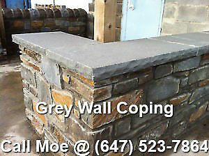Dove Grey Wall Coping Light Grey Step Treads Wall Capping