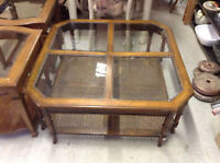 FAPO - Solid Wood Coffee Table and Two End Tables