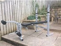 York Fitness Weights Bench with leg exercise attachment