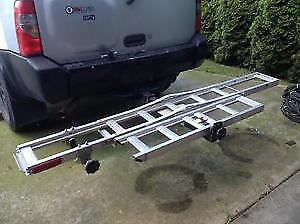 motorcycle carrier for truck bolts  right on to trailer hitch