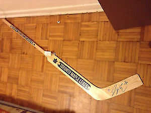 brand new goalie stick signed by james rymer