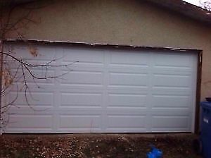 USED GARAGE DOORS- NEW HARDWARE