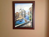 "BEAUTIFUL ""Venice"" Oil Painting & Gorgeous Frame!!!!!!!!!!"