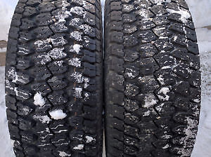 LT 275 70 r17 TWO GOODYEAR WRANGLER AT/S TRUCK TIRES $120