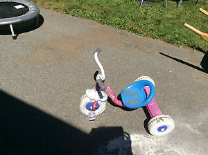 Pink girl's princess tricycle