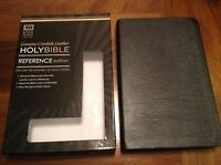 Cowhide leather center collum reference KJV.