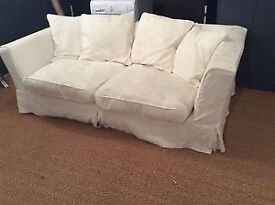 3 Seater Sofa, cream/white. Very comfortable and washable covers