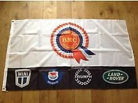 BMC mini Morris triumph Land Rover workshop flag banner