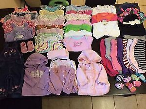 all different sizes 3-6 6-9 9-12 12-24 month baby girl clothing