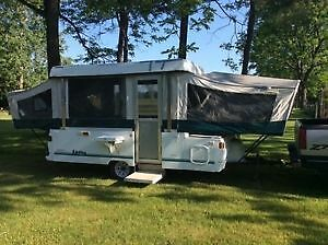 Coleman yukon 12 ft pop up trailer