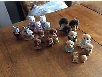 Sylvanian Families Figures - Hedgehog, Labrador, Cat, Bunny Family - 19 Figures
