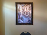 "BEAUTIFUL ""Bistro"" Print and Gorgeous Frame!!!!!!!!!"