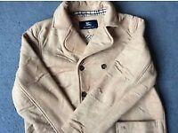 Auth Soft Burberry Designer Warm Coat Jacket, UK 12 (Medium)