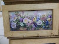 Pansies Art Framed Peg-Board