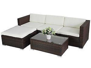 polyrattan lounge garnituren sitzgruppen ebay. Black Bedroom Furniture Sets. Home Design Ideas