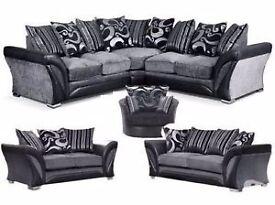 Shapo corner, 2 and 3 seat sofa and swivel chair