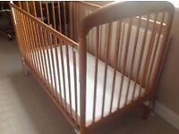 Child solid pine cot.