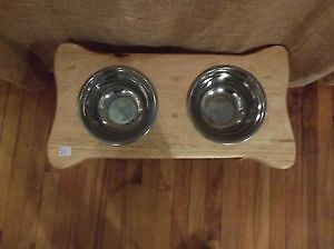 Dog Food & Water Dish