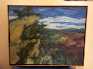 Original Oil Painting of PEI Red Cliffs