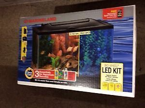 Marineland Biowheel LED 10 gallon Aquarium Starter Kit