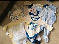 Baby boy clothing bundle 0-3 months