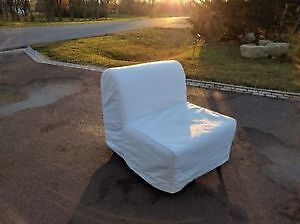 IKEA white expandable couch