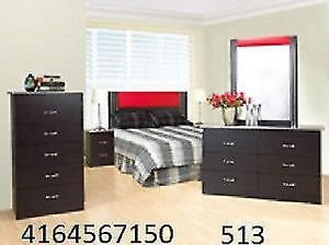 Special sale on bedroom sets with leather headboard for $345