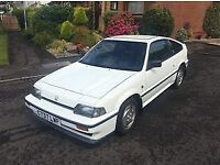 Beautiful, untouched, White 1986 Honda CRX, only 57,000miles for sale from South Japan