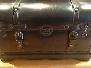 Bombay Leather Trunk