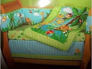 Fisher price rainforest crib bedding and extras