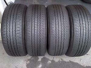 205/55R16 Bridgestone Turanza EL406 All Season 2 used tires, 75% tread left, Free Installation&Balance