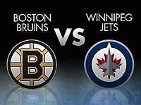 Jets vs Bruins- February 11 @ 7:00 pm (FRONT ROW)