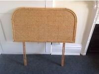 Wicker cane headboard in excellent condition