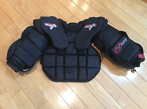 NEW PRICE:Vaughn intermediate chest protector and  reebok pants