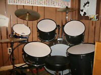 9 piece drum set with extras