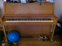 USED WURLITZER PIANO. OPEN TO OFFERS.
